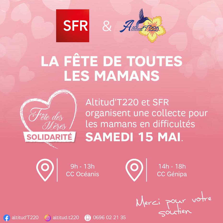 SFR Caraïbe et l'association Altitud'T220 organisent une collecte pour les mères en difficulté