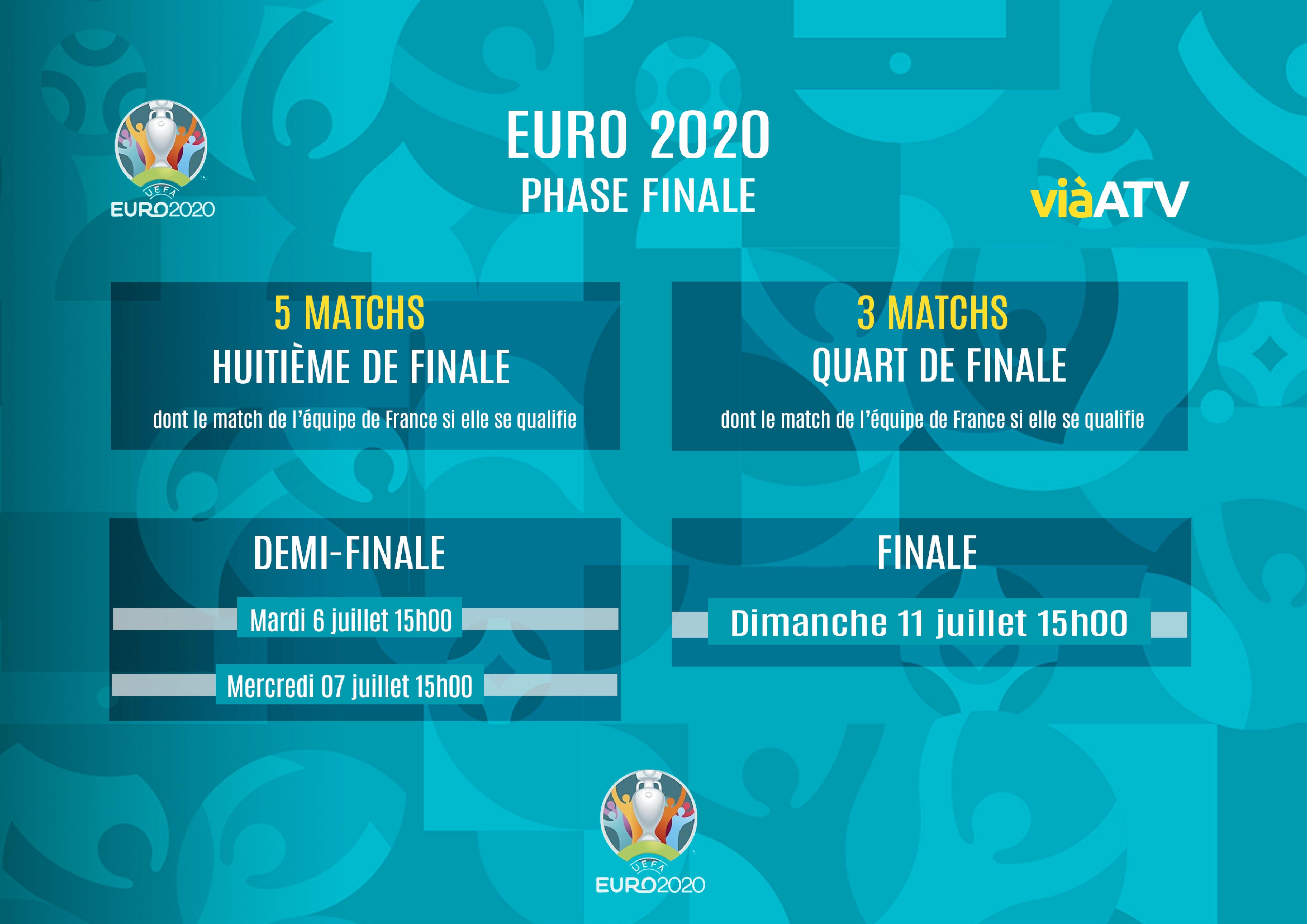 EURO 2020 : A suivre en direct et gratuitement sur ViàATV du 11 juin au 11 juillet 2021