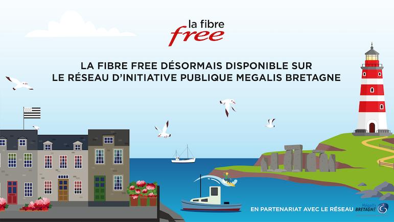 La Fibre Free désormais disponible sur le RIP Mégalis Bretagne