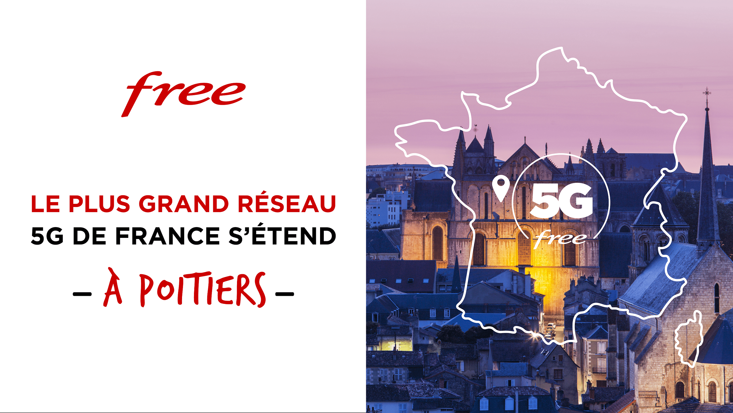 Le réseau 5G de Free s'étend à Poitiers