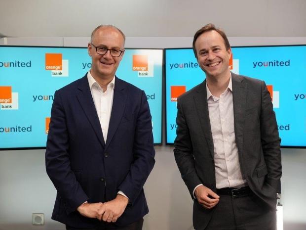 Paul de Leusse, DG d'Orange Bank (à gauche) et Geoffroy Guigou, DG de Younited