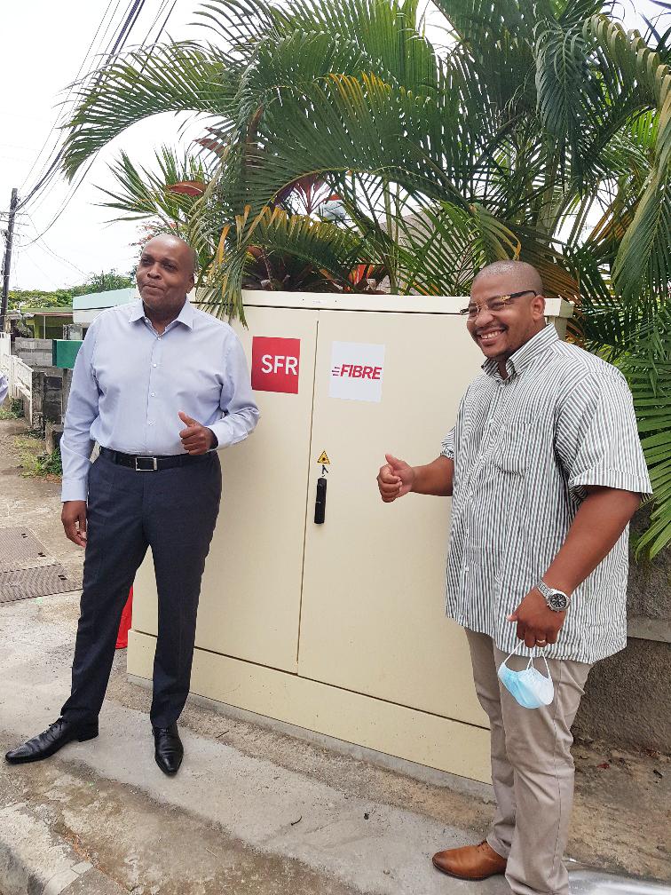 Fibre Optique: SFR Caraïbe met en service le premier PM (point de mutualisation) de la commune de Capesterre Belle Eau