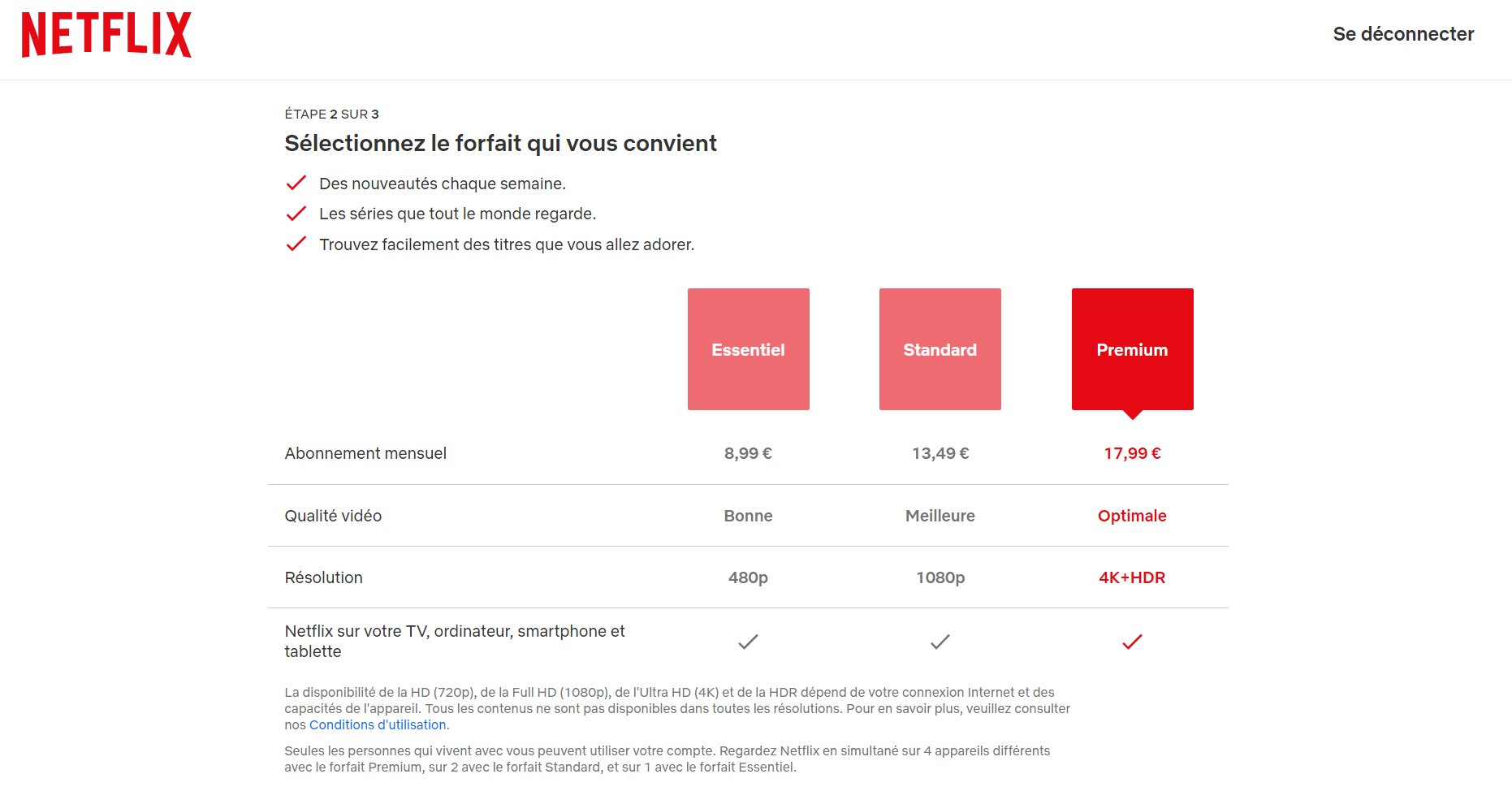 Netflix augmente ses tarifs
