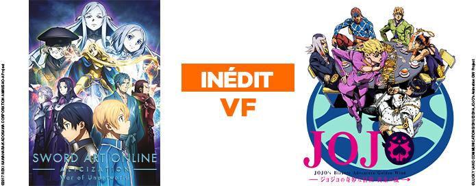 Les animés SWORD ART ONLINE et JOJO'S BIZARRE ADVENTURE débarquent en VF dés le 27 septembre sur GAME ONE