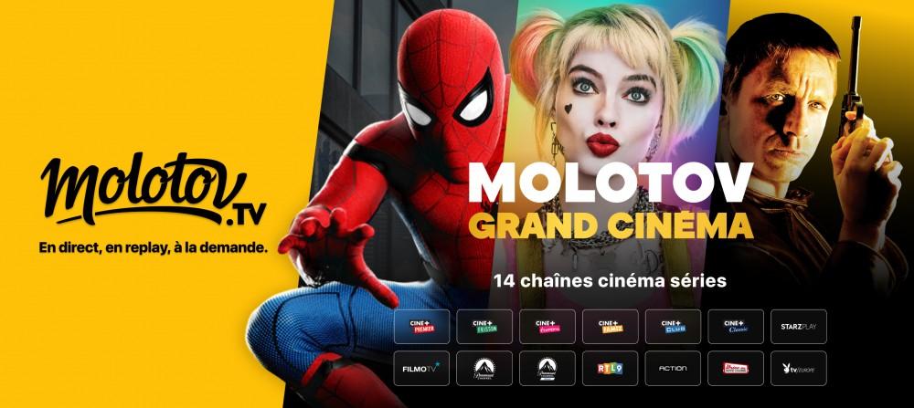 """Molotov lance """"Molotov grand cinéma"""", l'offre premium Cinéma & Séries"""