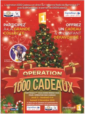 Martinique 1ère organise l'opération 1000 Cadeaux