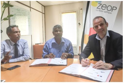 La ville de Saint-Paul et ZEOP  s'engagent pour la fibre optique