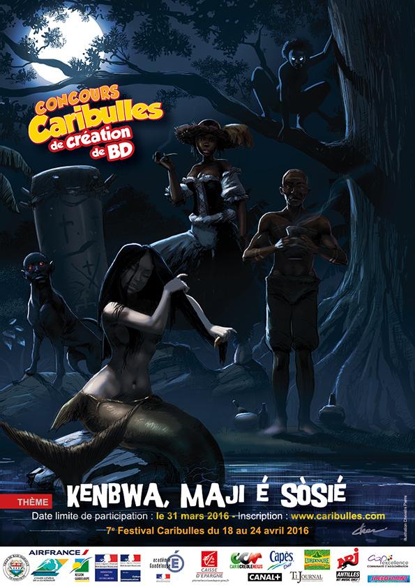 Affiche du 7e Concours Caribulles de création de BD