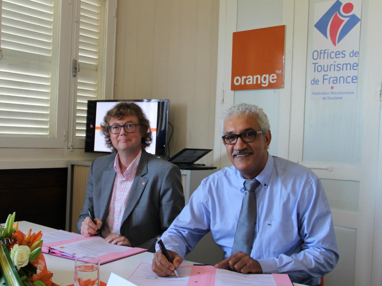 Orange et la Fédération Réunionnaise de Tourisme signent une convention destinée à renforcer leur collaboration dans le développement de l'usage des TIC auprès des Prestataires Touristiques
