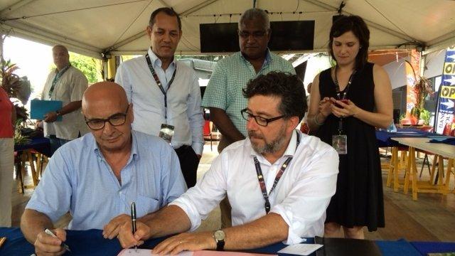 Convention de partenariat entre ABC International et Outremer 1ère