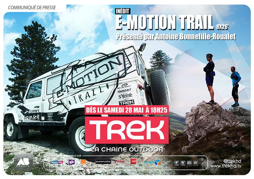 TREK: E-Motion Trail, le nouveau magazine sportif arrive à partir du 28 Mai