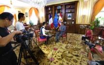 Une équipe de Beijing TV en tournage en Polynésie