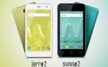 Wiko présente les Smartphones Sunny2 et Jerry2