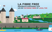 La Fibre Free désormais disponible sur les RIP Mayenne Fibre et Laval THD