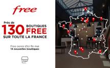 Près de 130 boutiques Free sur toute la France