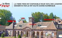 La Fibre Free est disponible pour 100% des logements desservis par le RIP Haute Saône Numérique