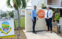 Guadeloupe : Inauguration de la première armoire de rue fibre de la ville de Goyave